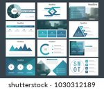 blue circle bundle infographic...   Shutterstock .eps vector #1030312189