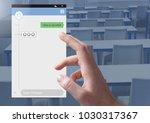 digital composite of hand... | Shutterstock . vector #1030317367