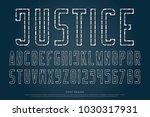 dash and dash style alphabet... | Shutterstock .eps vector #1030317931