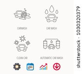 car wash icons. automatic... | Shutterstock .eps vector #1030320379