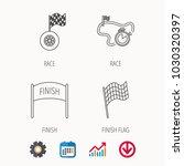 finish flag  race timer and... | Shutterstock .eps vector #1030320397