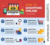 infographic of how to shopping... | Shutterstock .eps vector #1030322971