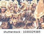 oruro  bolivia   february 10 ... | Shutterstock . vector #1030329385