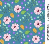 flower pattern leaf and nature   Shutterstock .eps vector #1030333957