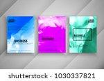 abstract business brochure... | Shutterstock .eps vector #1030337821