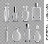perfume glass bottles various... | Shutterstock .eps vector #1030339201
