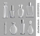 perfume glass bottles various... | Shutterstock .eps vector #1030339201