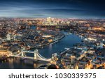 aerial view of london  from the ... | Shutterstock . vector #1030339375