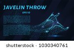 throwing spears out of... | Shutterstock .eps vector #1030340761