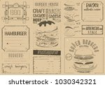 fast food place mat. burger... | Shutterstock .eps vector #1030342321