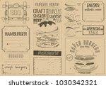 fast food place mat. burger... | Shutterstock .eps vector #1030342321