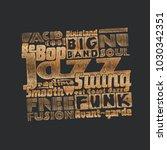 "black and gold design ""jazz... | Shutterstock .eps vector #1030342351"