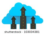 a roads up with a blue clouds | Shutterstock . vector #103034381