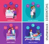 pregnancy cartoon design... | Shutterstock .eps vector #1030347241