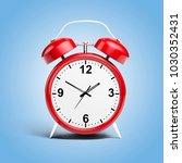 3d alarm shiny clock | Shutterstock . vector #1030352431