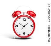3d alarm shiny clock | Shutterstock . vector #1030352434