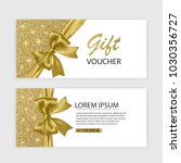 set of gift voucher card... | Shutterstock .eps vector #1030356727