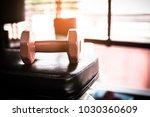 dumbbell fitness room   copy...   Shutterstock . vector #1030360609