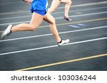 track and field race  motion... | Shutterstock . vector #103036244