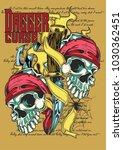 dagger curse illustration | Shutterstock .eps vector #1030362451