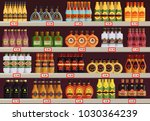 alcohol stall or beverage stand ... | Shutterstock .eps vector #1030364239