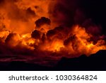 fiery shots of the active lava... | Shutterstock . vector #1030364824