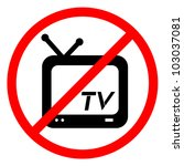 no television sign   Shutterstock .eps vector #103037081