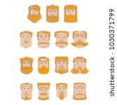 a set of bearded men  with... | Shutterstock .eps vector #1030371799