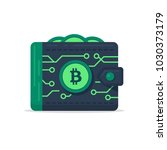 the bitcoin wallet as a chip... | Shutterstock .eps vector #1030373179