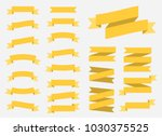 vector ribbons banners isolated ...