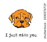 i just miss you color vector... | Shutterstock .eps vector #1030376719