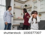 the concept of parental family... | Shutterstock . vector #1030377307