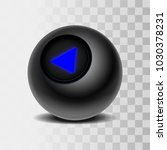 the magic ball of predictions... | Shutterstock .eps vector #1030378231