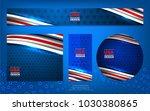 flag of usa background for... | Shutterstock .eps vector #1030380865