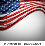 closeup of american flag on... | Shutterstock . vector #1030382005