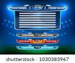 scoreboard broadcast graphic... | Shutterstock .eps vector #1030383967