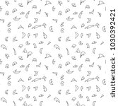 seamless pattern of hand drawn... | Shutterstock .eps vector #1030392421