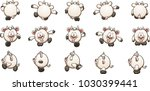 cartoon goat sprites ready for... | Shutterstock .eps vector #1030399441