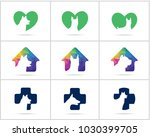 dog logos set design  pet and... | Shutterstock .eps vector #1030399705