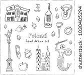poland hand drawn doodle set....   Shutterstock .eps vector #1030405294