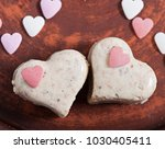 milk sesame sweets in the form... | Shutterstock . vector #1030405411