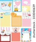 set of animal memo   blank sign ... | Shutterstock .eps vector #103040639