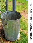 close up of metal bin | Shutterstock . vector #1030407271