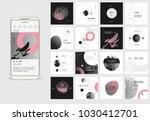 editable simple corporate posts ... | Shutterstock .eps vector #1030412701