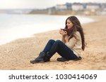 beautiful brunette woman...   Shutterstock . vector #1030414069