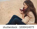 beautiful brunette woman...   Shutterstock . vector #1030414075