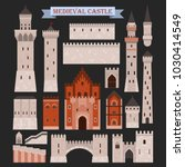 old medieval castle icon.... | Shutterstock .eps vector #1030414549