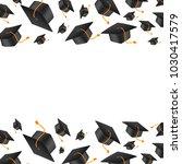 vector realistic graduate cap... | Shutterstock .eps vector #1030417579