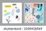 collection of creative... | Shutterstock .eps vector #1030418569
