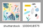 collection of creative... | Shutterstock .eps vector #1030418575